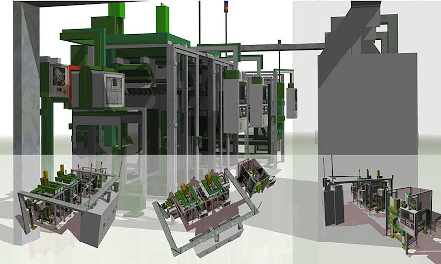 Visualisierung Rendering Maschine